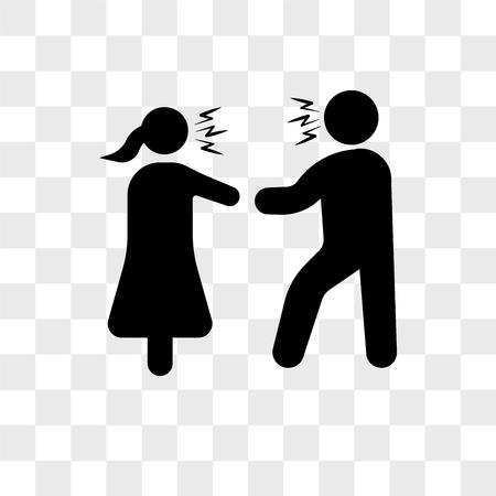 Paar argumentierende Vektorikone lokalisiert auf transparentem Hintergrund, Paar argumentierendes Logo-Konzept Logo