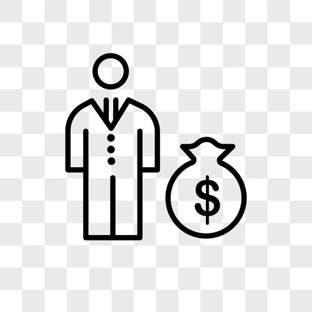 Bribe vector icon isolated on transparent background, Bribe logo concept