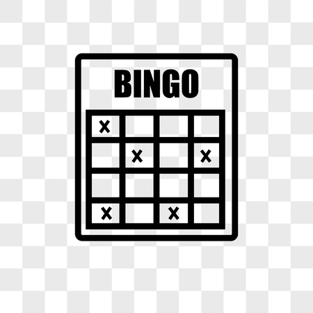 bingo vector icon isolated on transparent background, bingo logo concept