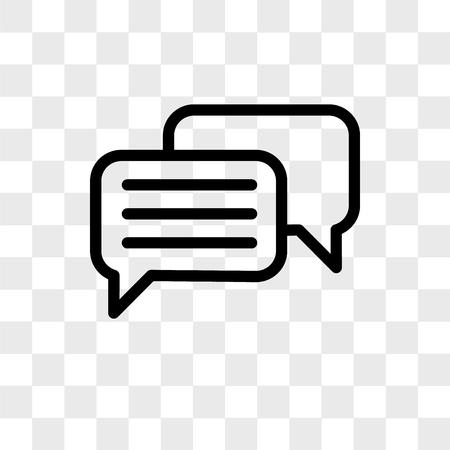 Icono de vector de chat aislado sobre fondo transparente, concepto de logo de chat