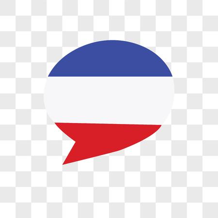 Icion de langue française sur fond de merde, aux couleurs du drapeau français, icône de vecteur isolé sur fond transparent, icion de langue française sur fond de merde, aux couleurs du drapeau français, notion de logo Logo