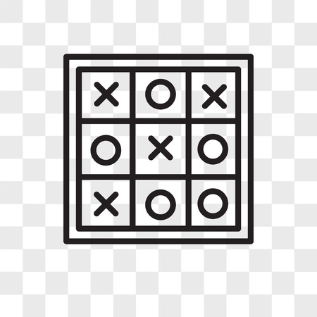Tic tac toe vector icon isolated on transparent background, Tic tac toe logo concept