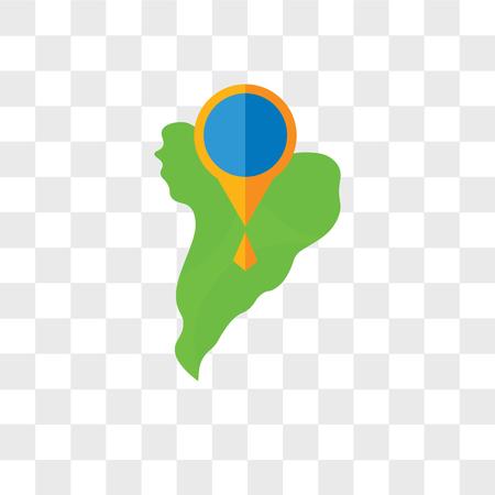 南アメリカのベクトルアイコンは、透明な背景、南米のロゴコンセプトに分離