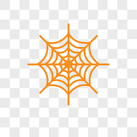 Spider web vector icon isolated on transparent background, Spider web logo concept Stock Illustratie