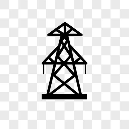 pylon vector icon isolated on transparent background, pylon logo concept