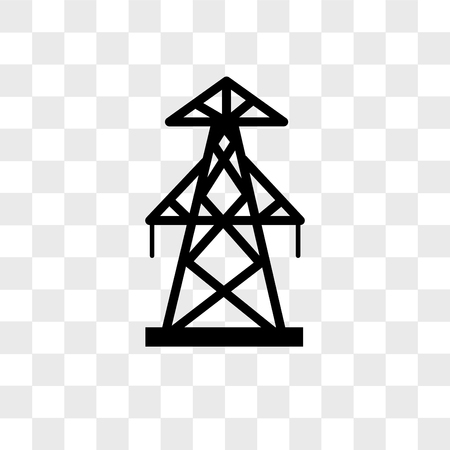 pylon vector icon isolated on transparent background, pylon logo concept