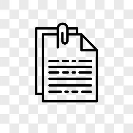 Vector bestandspictogram geïsoleerd op transparante achtergrond, bestand logo concept Logo
