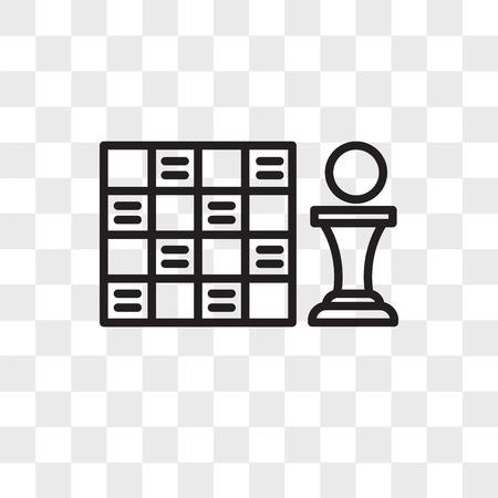 Icono de vector de tablero de juego aislado sobre fondo transparente, concepto de logo de tablero de juego