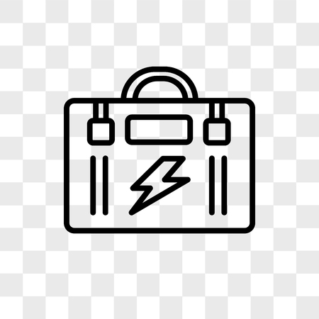 Toolbox vector icon isolated on transparent background, Toolbox logo concept