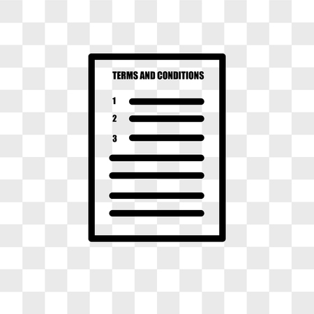 terms and conditions vector icon isolated on transparent background, terms and conditions logo concept 일러스트