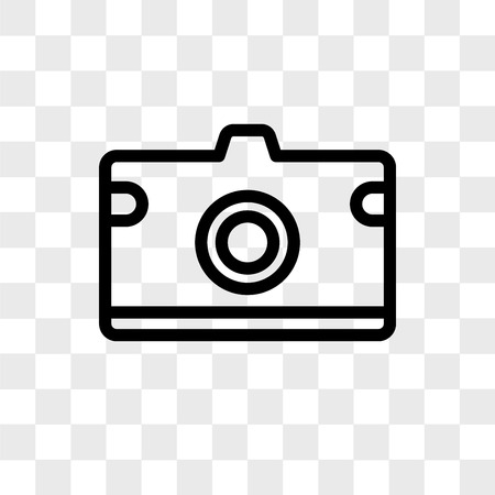 Photo Camera Vector Icon Isolated On Transparent Background Royalty Free Cliparts Vectors And Stock Illustration Image 109059274