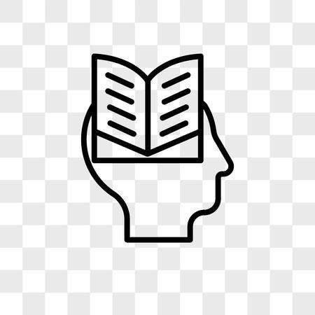 Icône de vecteur intellectuel isolé sur fond transparent, concept logo intellectuel
