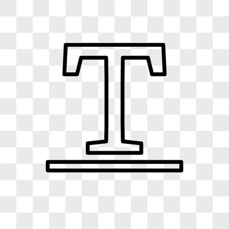 Underline vector icon isolated on transparent background, Underline logo concept