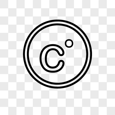 Celsius vector icon isolated on transparent background, Celsius logo concept