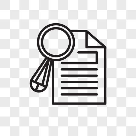Forschungsvektorikone lokalisiert auf transparentem Hintergrund, Forschungslogokonzept