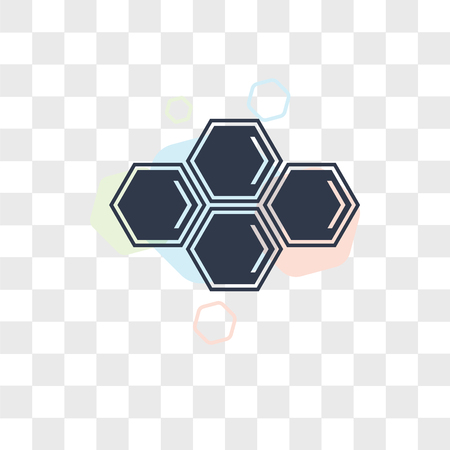 Eco cell vector icon isolated on transparent background, Eco cell logo concept