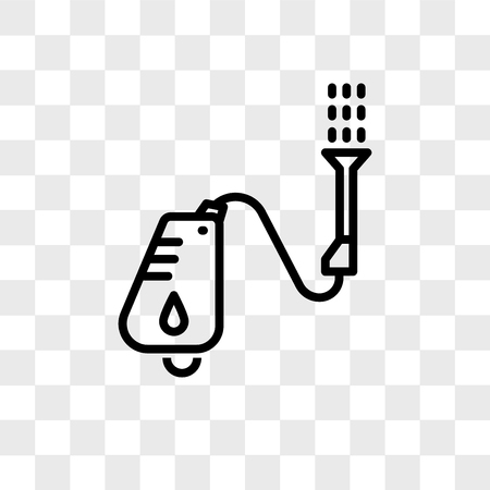 pressure washer vector icon isolated on transparent background, pressure washer logo concept Ilustração