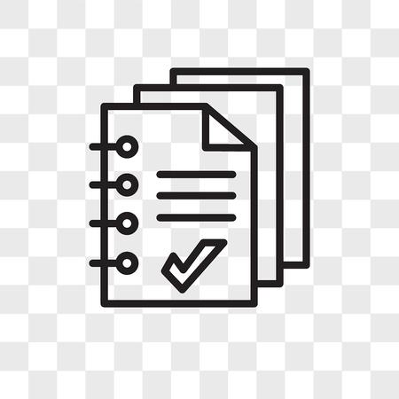 icono de vector de folleto aislado sobre fondo transparente, concepto de logo de folleto Logos