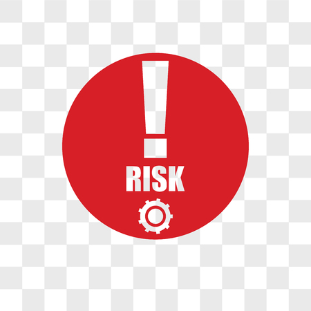 risk management vector icon isolated on transparent background, risk management logo concept