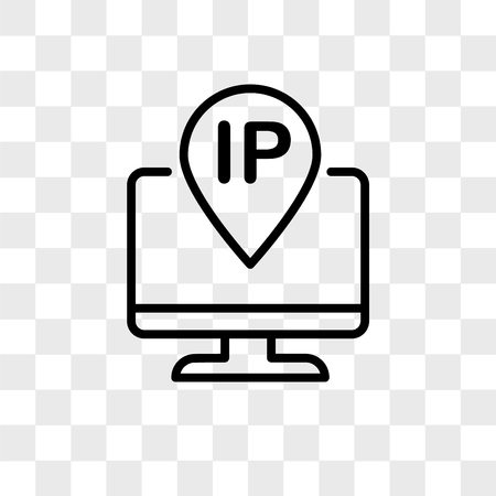 ip address vector icon isolated on transparent background, ip address logo concept