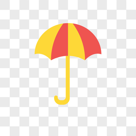 Umbrella vector icon isolated on transparent background, Umbrella logo concept