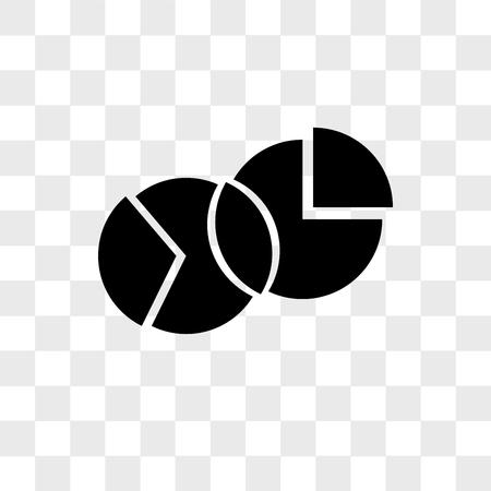 Diagram vector icon isolated on transparent background, Diagram logo concept Ilustração