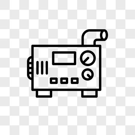 Icône de vecteur de générateur diesel isolé sur fond transparent, concept de logo de générateur diesel Logo