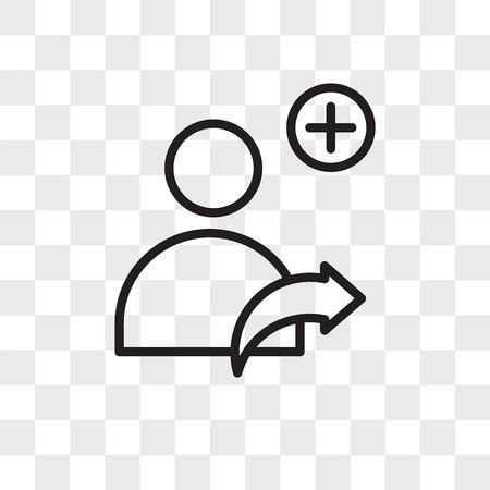 Référez-vous à une icône de vecteur ami isolé sur fond transparent, reportez-vous à un concept de logo ami Logo