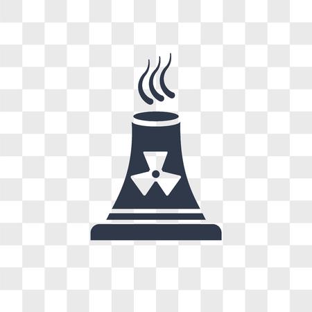 Nuclear Plant vector icon isolated on transparent background, Nuclear Plant logo concept Ilustração