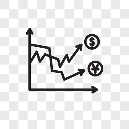 Volatilitätsvektorikone lokalisiert auf transparentem Hintergrund, Volatilitätslogo-Konzept