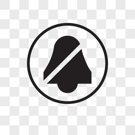 quiet vector icon isolated on transparent background, quiet logo concept