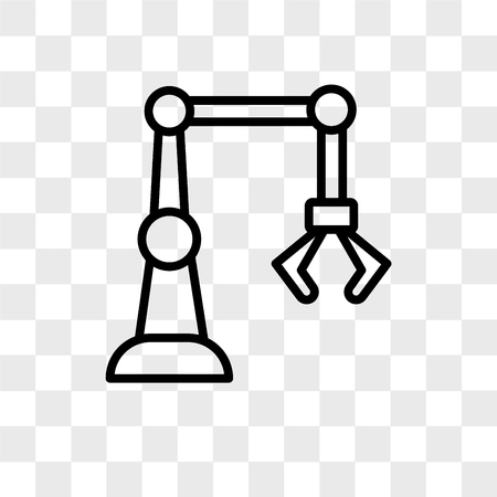 industry 4.0 vector icon isolated on transparent background, industry 4.0 logo concept