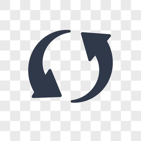 Icône de vecteur de recharge isolé sur fond transparent, notion de logo de recharge