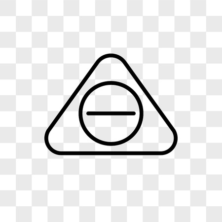 Subtracting button vector icon isolated on transparent background, Subtracting button logo concept