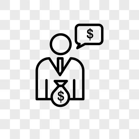 cfo vector icon isolated on transparent background, cfo logo concept Illustration
