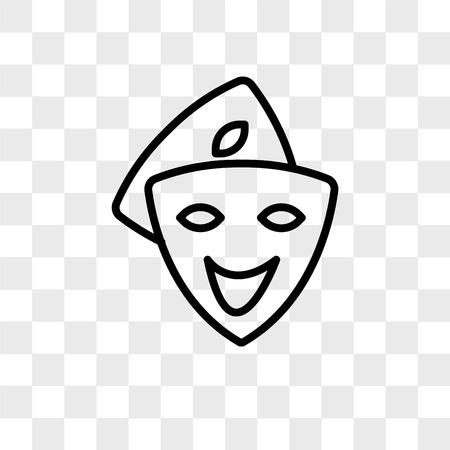 Cosplay-Vektor-Symbol lokalisiert auf transparentem Hintergrund, Cosplay-Logo-Konzept Logo