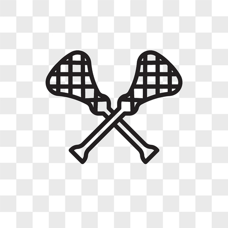 lacrosse vector icon isolated on transparent background, lacrosse logo concept