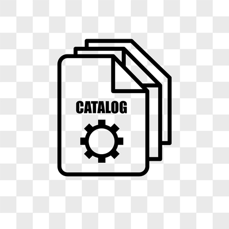 service catalog vector icon isolated on transparent background, service catalog logo concept Stock Illustratie