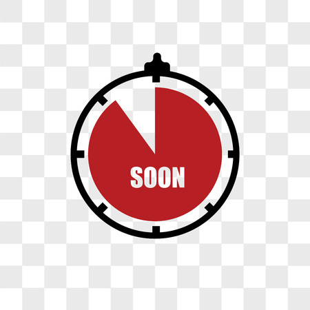 soon vector icon isolated on transparent background, soon logo concept