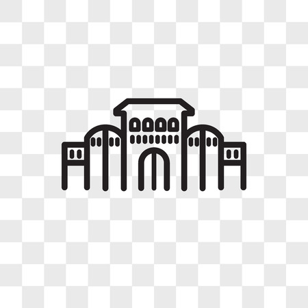 shaniwar wada vector icon isolated on transparent background, shaniwar wada logo concept Banco de Imagens - 109087488