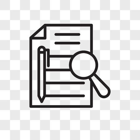 Icona di vettore di riepilogo esecutivo isolato su sfondo trasparente, concetto di logo di riepilogo esecutivo Logo
