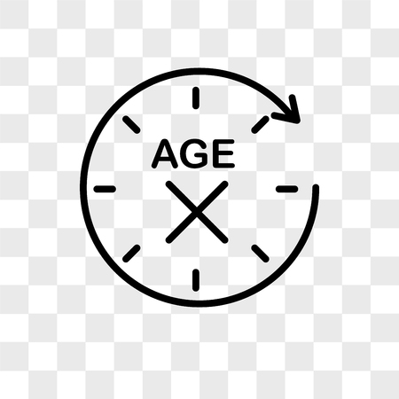 anti aging vector icon isolated on transparent background, anti aging logo concept  イラスト・ベクター素材