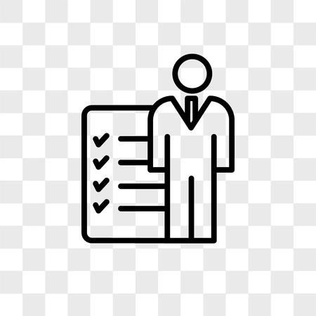 icône de vecteur de rôles et responsabilités isolé sur fond transparent, concept de logo rôles et responsabilités