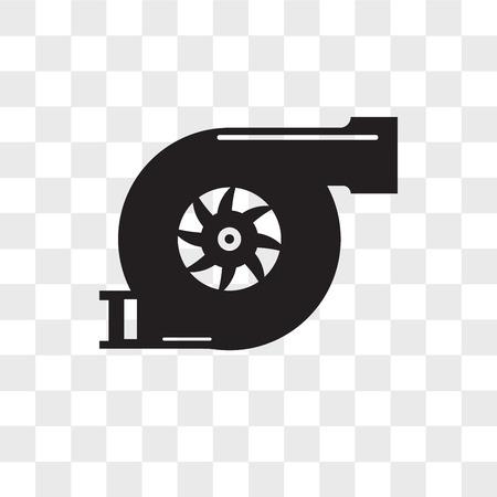 ikona wektor turbo na przezroczystym tle, koncepcja logo turbo