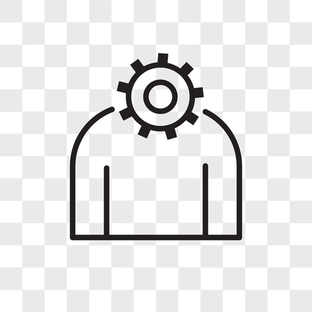 settings vector icon isolated on transparent background, settings logo concept