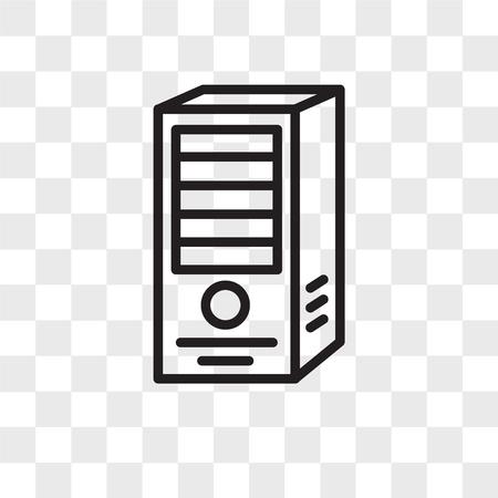 icono de vector de servidor web aislado sobre fondo transparente, concepto de logo de servidor web Logos