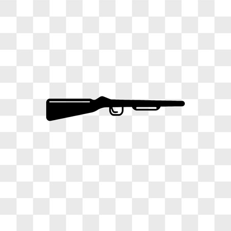 shotgun vector icon isolated on transparent background, shotgun logo concept