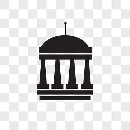 municipal vector icon isolated on transparent background, municipal logo concept Illustration