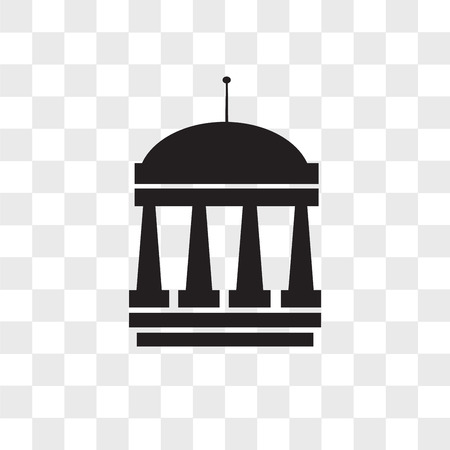 municipal vector icon isolated on transparent background, municipal logo concept 일러스트