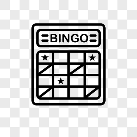 bingo card vector icon isolated on transparent background, bingo card logo concept Çizim